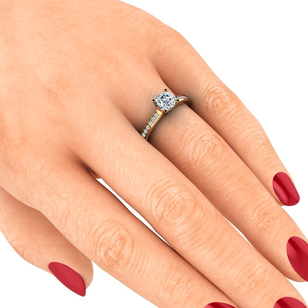 Vorschau: Verlobungsring-VR05-333er-Gelbgold-5205-eeta